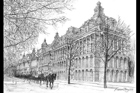 Hyde Park Barracks proposal - perspective by Francis Terry